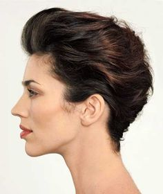 Slicked Back Short Pixie French Twist