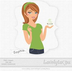 Lime cupcake clip art baking cupcakes girl green by Lovelytocu