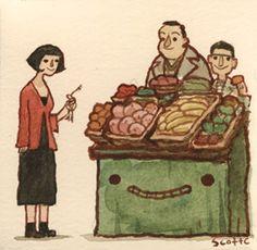 Amélie Poulain by Scott Campbell