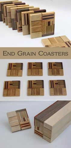 Wood Profits - These are made in much the same way you would make end-grain cutting boards. However, one key difference is that you arrange the pieces in a purposely random arrangement, and not in a nice even regular layout. #EndGrain #WoodenCoasters #woodworking Discover How You Can Start A Woodworking Business From Home Easily in 7 Days With NO Capital Needed!