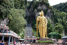 Batu Caves is a limestone hill that has a series of caves and cave temples in the Gombak district, 13 kilometres mi) north of Kuala Lumpur, Malaysia. It takes its name from the Sungai Batu or Batu River, which flows past the hill. Kuala Lumpur City Tour, Eastern Holiday, Legoland Malaysia, Kuala Lampur, Malaysia Truly Asia, Batu Caves, Cocos Island, Petronas Towers, Historical Monuments