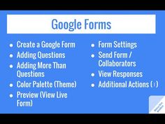 Google Forms (New Version) - YouTube