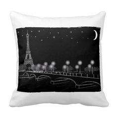 Black and White Eiffel Tower Design