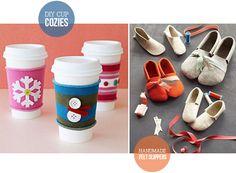 HEY LOOK: DIY GIFT IDEAS  ---  I kinda really want to make those felt slippers.