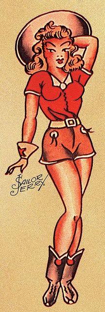 Vintage Tattoo Design Old School Sailor Jerry 20 Ideas Old Tattoos, Pin Up Tattoos, Sleeve Tattoos, Tatoos, Arabic Tattoos, Tattoo Ink, Vintage Tattoo Design, Tattoo Vintage, Sailor Jerry Tattoo Flash