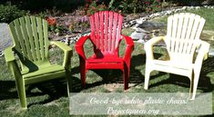 Painting plastic lawn chairs