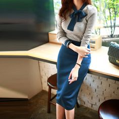 Aliexpress.com: One Love Fashion Mallより信頼できる ドレス製品 サプライヤからVestidos2015冬のドレス新しいプロモーションホットトレンディなファッションカジュアルな服装居心地の良い高 エンドスリムタイトなニット冬のドレスを購入します