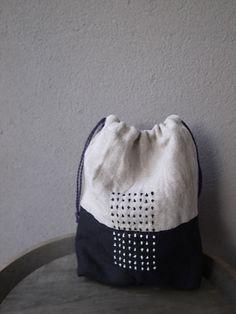 刺し子の巾着