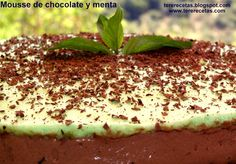 Mousse de chocolate y menta  http://tererecetas.blogspot.com