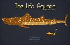 The Life Aquatic with Steve Zissou Jaguar Shark by KrampusPress