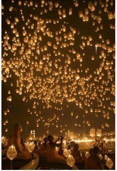 Paper lantern festival - Thailand