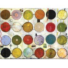 24 Circles Duck Tree - circles print of original acrylic mixed media painting by Jill Mayberg Circle Art, Abstract Painting Acrylic, Mixed Media Painting, Encaustic Art, Painting, Art, Abstract, Original Art, Altered Art