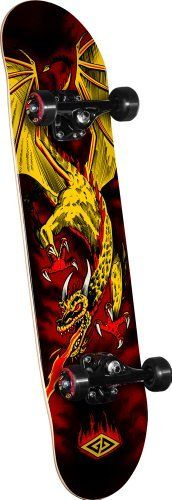 Powell Golden Dragon Flying Dragon 2 Complete Skateboard: Powell Golden Dragon skateboard assemblies are a high quality product with the…