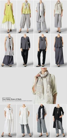Vivid Linen Your Daily Dose of Style Boho Fashion, Fashion Outfits, Womens Fashion, Fashion Design, Fashion Over 50, Clothing Patterns, Capsule Wardrobe, Plus Size Fashion, What To Wear