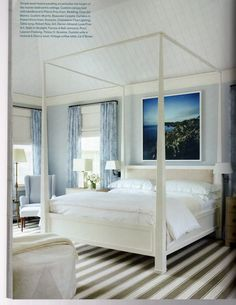 Gorgeous canopy bed designer Timohty Whealon Veranda Magazine May/June 2012 via Donna's Blog - A Designer's Perspective