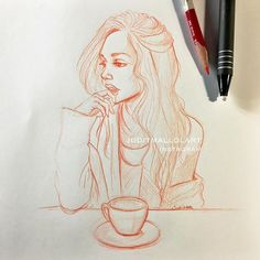 Instagram media by juditmallolart - Doodling deep thoughts and coffee ☕️ @alexisren