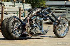 FreeStyle Chopper Harley Davidson Fatboy with 300 rear O_o