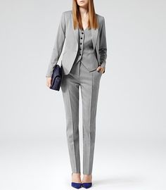 Womens Pants High Waisted Trousers in Gray Office by KSclothing ...