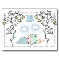 Sweet Little Boy Baby Shower Postcard Invitations