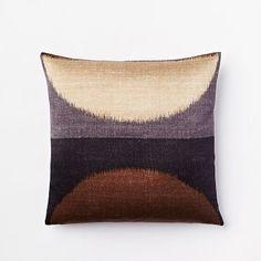 Ikat Moon Silk Pillow Cover - Slate #westelm