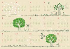 「森のみどりみのるカレンダー 2014」発売のおしらせ | ドーナツのフロレスタ | ネイチャードーナツ