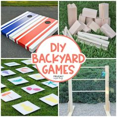 Hosting an outdoor gathering? Want to make your yard the summer attraction for the neighborhood? These DIY Backyard Games are the perfect outdoor ideas for kids and adults, day or night! Backyard Games Kids, Diy Yard Games, Backyard Plan, Fun Games, Games For Kids, Team Games, Outdoor Crafts, Outdoor Ideas, Giant Beer Pong
