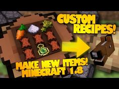 Minecraft Redstone | Make Your Own Item Recipes! | Advanced Crafting Table (Minecraft Redstone) - YouTube