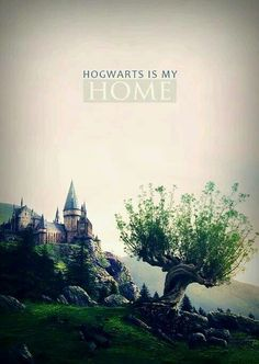 Hogwarts---a fictional home away from home, a home that I've never seen but in a way, I know ever corner of the dormitories and halls. ;)