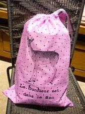 """Sac """"Le bonheur est dans le sac"""" by Parisienne.Kom"""