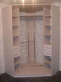 Corner wardrobe closet ideas – Decor Units - All About Corner Wardrobe Closet, Wardrobe Design Bedroom, Bedroom Wardrobe, Diy Wardrobe, Closet Layout, Bedroom Cupboards, Closet Designs, Bedroom Storage, Closet Storage