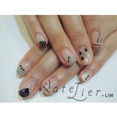 モノトーン  #atelier#atelierlim#lim#nail#アトリエ#リム#ネイル#西山