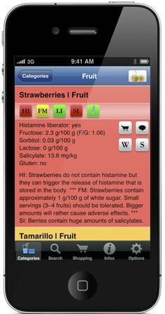 There's an app for that! I pretty much know what is low histamine, but sometimes I want to try something new and this app has been there for me for most everything I've asked of it. It's esp helpful while grocery shopping or dining out. Thumbs up. Anti Histamine Foods, Strawberry Fruit, Food Intolerance, Anti Inflammatory Diet, Insulin Resistance, Fatty Liver, Try Something New, Geek Out, Balanced Diet