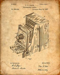 Hey, I found this really awesome Etsy listing at https://www.etsy.com/listing/200912370/photographic-camera-patent-art-print