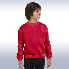 5d8a6ce9ef033f Authentic Pigment-Youth 11 oz-Pigment-Dyed Ringspun Cotton Fleece  Crew-11561Y