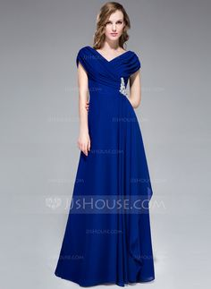 Evening Dresses - $108.99 - A-Line/Princess Off-the-Shoulder Floor-Length Chiffon Evening Dress With Ruffle Beading (008040842) http://jjshouse.com/A-Line-Princess-Off-The-Shoulder-Floor-Length-Chiffon-Evening-Dress-With-Ruffle-Beading-008040842-g40842