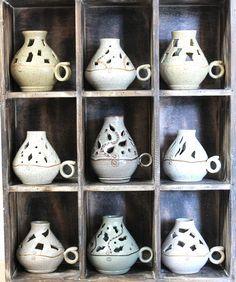 Ceramic Shop, Ceramic Pottery, Ceramic Art, Handmade Candles, Handmade Pottery, Handmade Ceramic, Ceramic Oil Burner, Cerámica Ideas, Ceramic Candle Holders