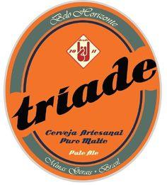 Cerveja Tríade Pale Ale, estilo Extra Special Bitter/English Pale Ale, produzida por  Cervejaria Caseira, Brasil. 5% ABV de álcool.