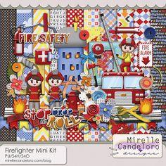 Firefighter Mini Kit :: Full & Mini Kits :: Memory Scraps