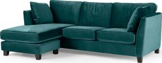 Wolseley Large corner sofa, Peacock Blue from Made.com. Created in collaboration with home expert and presenter, Alison Cork, the Wolseley collectio..