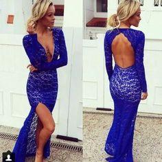 Fashion dress,blue