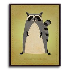 10.5 in. The Artful Raccoon by John W. Golden Framed Print | Shop at the Foundary