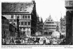 Stich von 1815: Das Rathaus - von Zeit zu Zeit - Stuttgarter Zeitung
