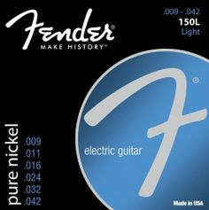 Fender 150 L Pure Nickel Ball End 9-42, Electric Guitar Strings by Fender. $6.50. The best of yesterday and today. We started with our pure nickel wound strings and added our newly improved patented Bullet end. Designed especially for your tremolo-equipped electric guitar, the Bullet end lends additional tuning stability to the warm full vintage sound of pure nick.  Bullets-the String for Strat guitars.
