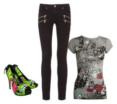 """""""Untitled #4289"""" by ania18018970 on Polyvore featuring Wet Seal, Paige Denim and Iron Fist"""