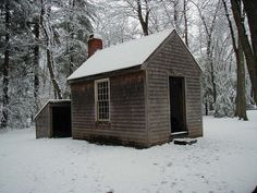 Henry David Thoreau's cabin near Walden Pond (a replica was built where it stood) Walden Pond, Henry David Thoreau, Wabi Sabi, New England, Im Not Perfect, At Least, Outdoor Structures, Rustic, Architecture