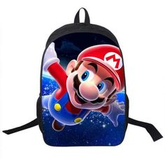 Kids Mario Printing Backpack Children Cartoon Sonic Backpacks Boys Girls School  Bags For Kindergarten Daily Backpack Book Bag 403538265307b