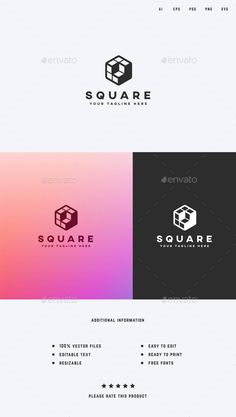 Cube/Square Logo Template