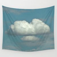 Wall Tapestry featuring Lone Cloud by Stone Twig Studio