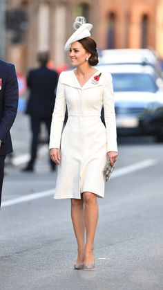Kate in Alexander McQueen in Belgium