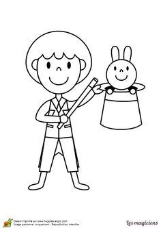 dessin du petit apprenti magicien très heureux de faire apparaître